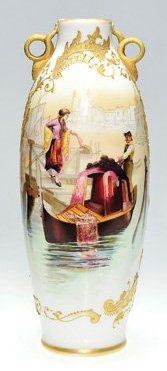 Colonial Ware Vase with Venice Scene
