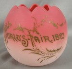 Cracked Egg Design Mount Washington Worlds Fair 1893 Souvenir