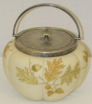 Crown Milano Biscuit Jar with Oak Leaves and Acorns