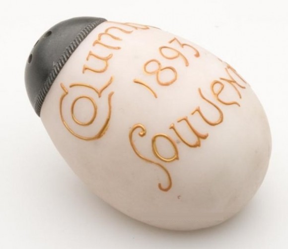 Egg Salt Shaker from Columbian Expo 1893 Souvenir