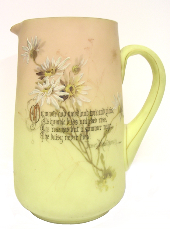Mount Washington Burmese Pitcher with Poem