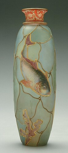 Royal Flemish Vase with Fish Design
