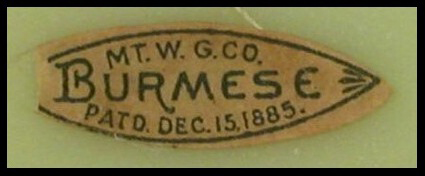 MT. W. G. CO. Burmese PatD. Dec. 15, 1885 Mark