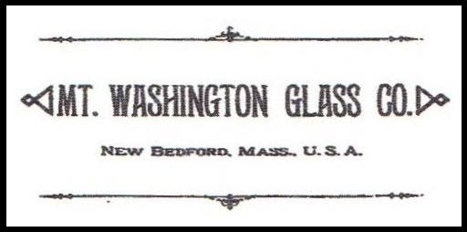 Mt. Washington Glass Co. New Bedford, Mass., U.S.A. Mark