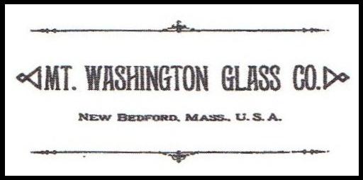 Mt. Washington Glass Co. New Bedford, Mass., U.S.A. Mark
