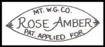 Mt. W.G. CO. Rose Amber Pat. Applied For Mark